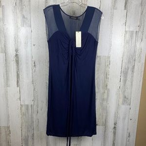 MM Couture Navy Blue Dress Size Large NWT